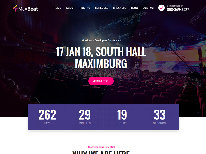 maxbeat - event  u0026 conference bootstrap template